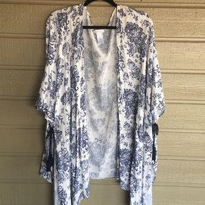 White and Blue Coverup L/XL